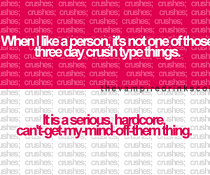 crush, pink, and quote image