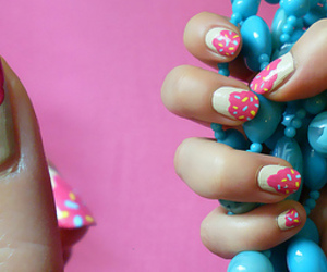 cupcakes, nail art, and sprinkles image