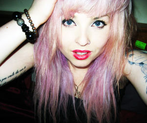 beautiful, Tattoos, and pastel hair image