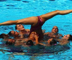synchro swimming image