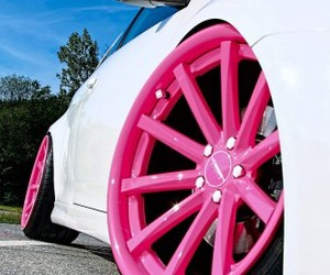 car, cars, and pink image
