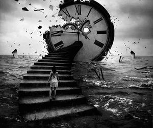 time, clock, and dark image