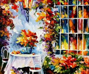 art, colorful, and flowers image
