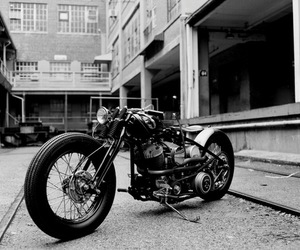 b&w, Motor, and motorcycle image
