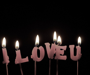 candle, I Love You, and cute image