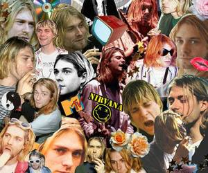 Collage, kurt cobain, and nirvana image