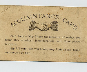 card, vintage, and old image