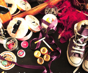 converse, shoe, and make up image
