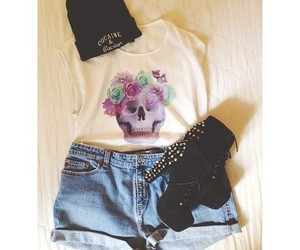 fashion, look, and skull image