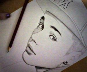 justin bieber, justin, and drawing image