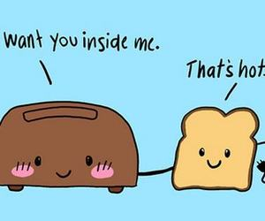 Hot, funny, and toast image