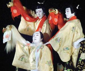 japan, kabuki, and japão image