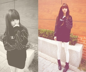 fashion, korean fashion, and skinny image