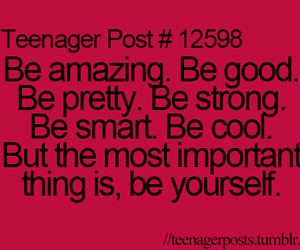 quote, amazing, and be yourself image