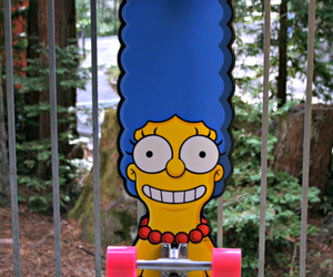 simpsons, skate, and marge image