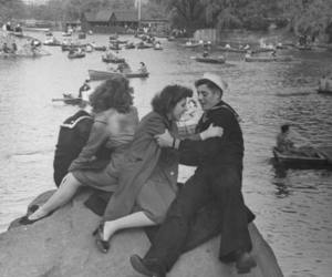 couples, navy, and vintage image