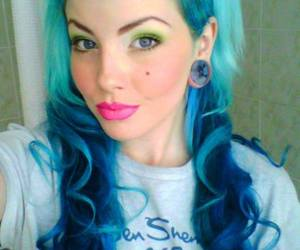 alternative, color hair, and look image