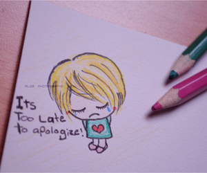 apologize, quote, and sad image