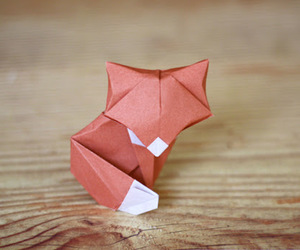 fox, origami, and cute image