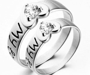 promise couple rings, wedding rings for men, and wedding rings sets image