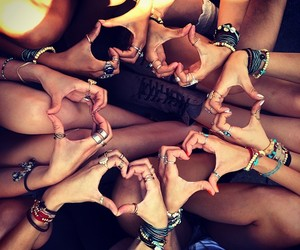 heart, friends, and love image