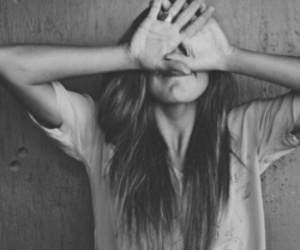 black and white, girl, and tumblr image