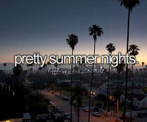 summer, night, and pretty image