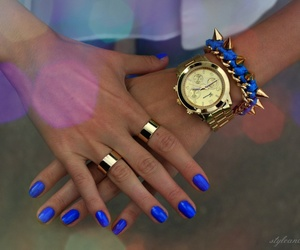 blue, opi, and gold image
