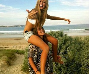 beach, friendship, and blond image