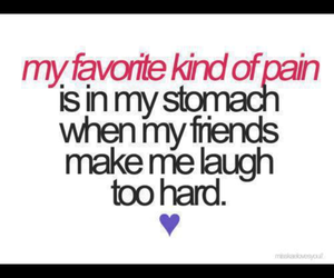 laugh, friends, and pain image