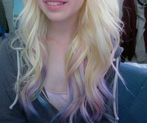 hair, ombre, and pastel image