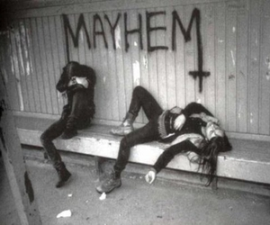 Mayhem, Black Metal, and black and white image