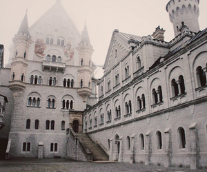 castle and white image