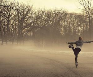 girl, skating, and ice image