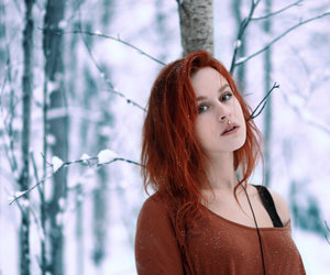girl, photography, and red hair image