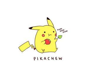 art, monochrome, and pikachu image