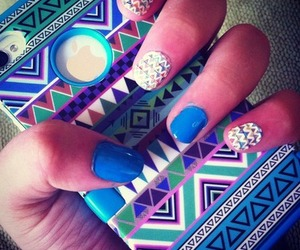 mobile, nailpolish, and nails image