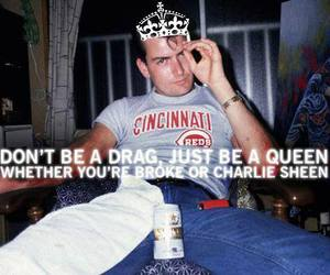 boy, charlie harper, and Queen image