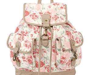 backpack, fashion, and floral image