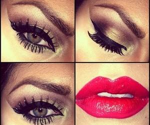 make up, eyes, and lips image