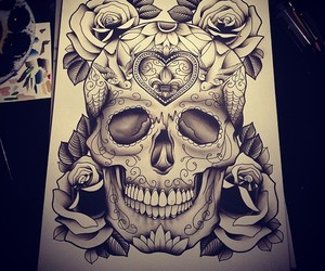dope, ink, and skull image