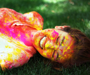 colorfull, girl, and portrait image