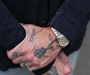 hands, watch, and black tattoo image