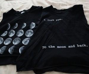 moon, black, and shirt image