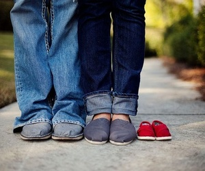 baby, shoes, and toms image