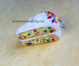 cake, cake batter, and polymer clay image