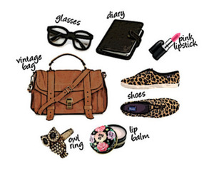 bag, glasses, and shoes image