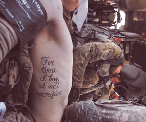 army, sacrifice, and love image