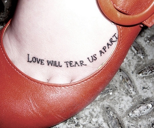 tattoo, joy division, and love image