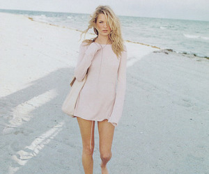 kate moss, beach, and model image